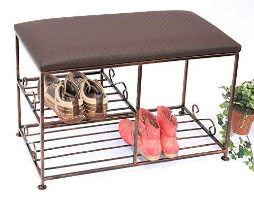 DanDiBo Schuhregal mit Sitzbank Art.295 Bank 70 cm Schuhschrank aus Metall Schuhablage