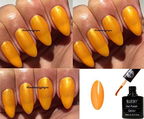 Bluesky Vernis Gel Semi Permanent Cure sous Lampe UV/LED Gold Metallic Or Métallique 10 mL