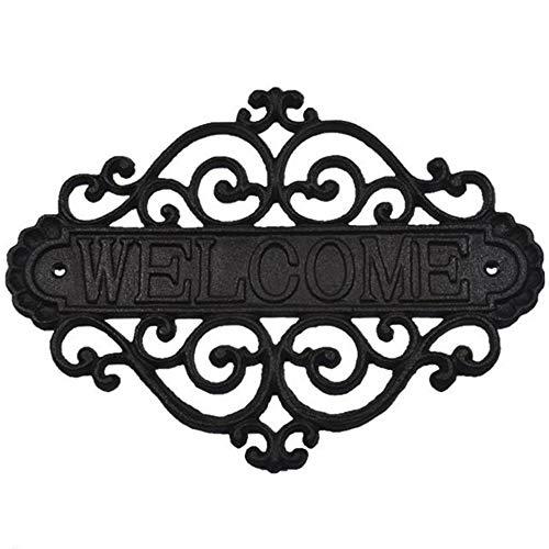 Welkom Muur Teken Plaque, Huis Tuin Outdoor Hangende Decoratie, Winkel Gietijzeren Huis Cottage Gepersonaliseerde Logo