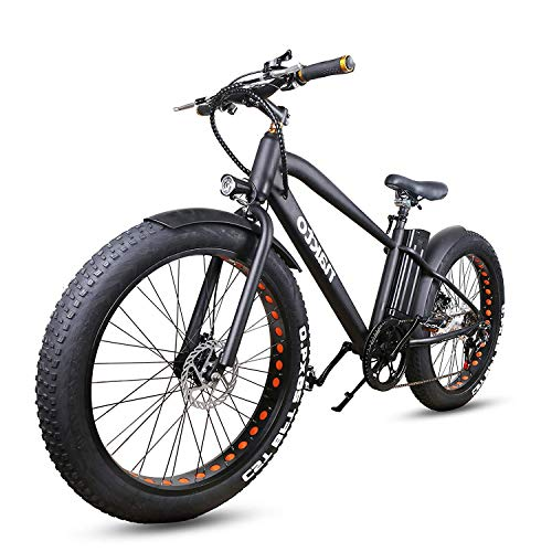NAKTO 26' City Fat Tire Adult Electric Bicycles and 300W Assisted Bicycle for Men Woman with...