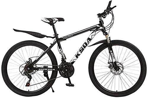 Mountain Bike for Men Land Rover 26 Inch with 21 Speed Dual Disc Brakes Suspesion Travel Camping Bicycle,A