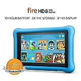 Fire HD 8 Kids Edition Tablet, 8' HD Display, 32 GB, Blue Kid-Proof...