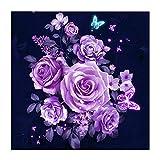 Arte De La Pared Del Árbol, Flores De Bordado De Diamantes Pintura De Diamante Kits De Punto De Cruz Rose Resina Cuadrada Completa Mosaico De Diamantes Decoración Del Hogar-30x30cm