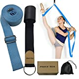 Leg Stretch Band - to Improve Leg Stretching - Easy Install on Door - Perfect Home Equipment for Ballet, Dance and Gymnastic Exercise Flexibility Stretching Strap Foot Stretcher Bands (Light Blue)