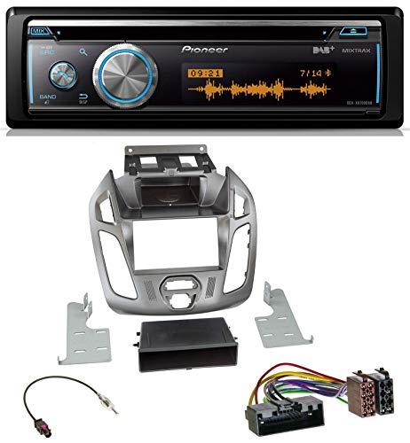 caraudio24 Pioneer DEH-X8700DAB MP3 DAB USB CD Bluetooth Autoradio für Ford Connect Transit 2012-2018 ohne Display Silber