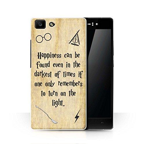 Hülle Für Oppo R5 Schule der Magie Film Zitate Happiness/Darkest Times Design Transparent Ultra Dünn Klar Hart Schutz Handyhülle Hülle