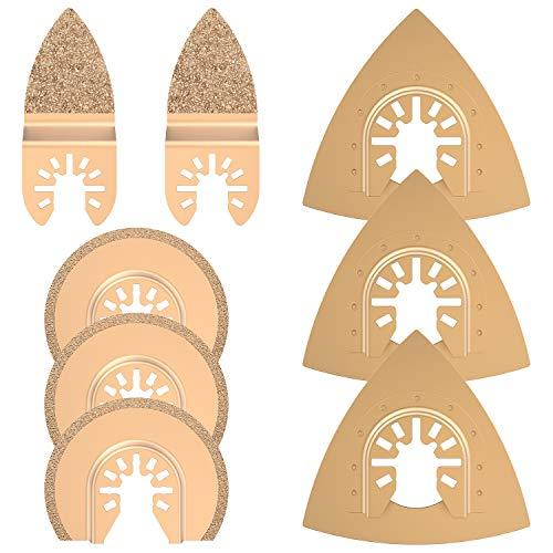 Oszillierendes Hartmetall-Werkzeug, Diamantsägeblatt, Multitool-Zubehör für Fein Multimaster, Bosch, 8 Stück