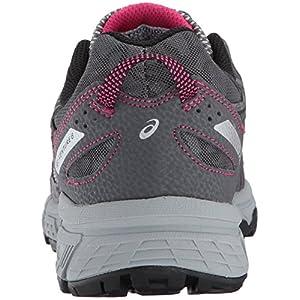 ASICS Women's Gel-Venture 6 Running-Shoes,Carbon/Black/Pink Peacock,8.5 Medium US