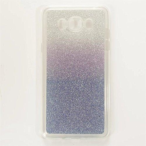 MUTOUREN Funda Cover Samsung Galaxy J5 (2016) SM-J510F Cubierta Funda Case de Silicona TPU Carcasa del Suave Soft Case Cover Funda de movil la Caja del teléfono Concha Moda Cambio Gradual Azul