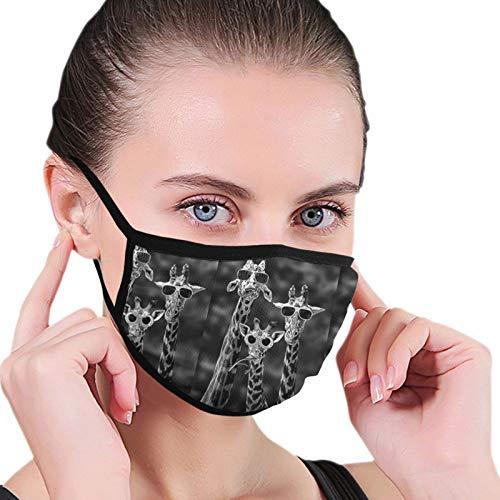 Jirafa Perezoso Tres Jirafa Divertida Con Gafas De Sol Unisex Cubierta Adulto Máscara De Polvo Polaina De Cuello Bufanda Pasamontañas Para Polvo Viento Protección Solar