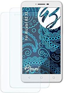 Bruni Skärmskydd är kompatibel med Alcatel A3 XL Film, kristallklart Skyddsfilm (2X)