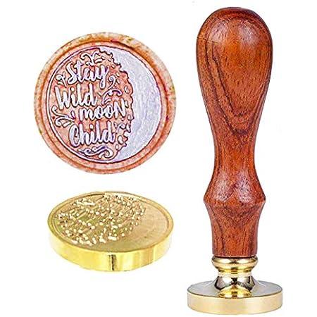 Moon Night Wax Seal Stamp Moon and Star Wax Seal Stamp Vintage Wedding wax seal stamp wedding wax seal kit