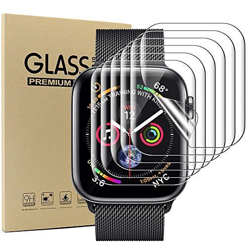 Acadeny [Paquete de 10 Protector Compatible con Apple Watch 42mm Serie 3/2/1,película Protectora con[sin Burbujas] [sin Vidrio] [antiarañazos] [táctil Sensible],TPU Mate Película
