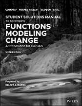 Student Solutions Manual to accompany Functions Modeling Change 6e