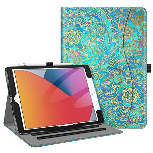Fintie Case for iPad 9th / 8th / 7th Generation (2021/2020/2019) 10.2 Inch - [Corner Protection] Multi-Angle Viewing Stand Cover with Pocket & Pencil Holder, Auto Wake Sleep, Shades of Blue
