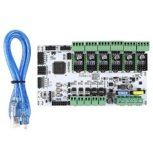BJLWTQ 3D Printer Accessories RUMBA-32 Bit Main Control Board Compatible with Marlin 2.0 32-Bit RUMBA Upgrade Version DIY