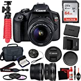 Canon EOS Rebel T7 DSLR Camera with 18-55mm Lens and 64GB Memory Card, Carrying Case, Filters, and More Accessories