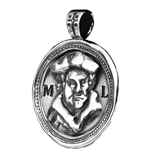Lutherrose/Martin Luther, 925er Silber, doppelseitiger Ketten-Anhänger