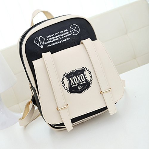 EXO Kpop Overdose backpack Miracle in December + 2 pieces of EXO Poster lomo card (silver)