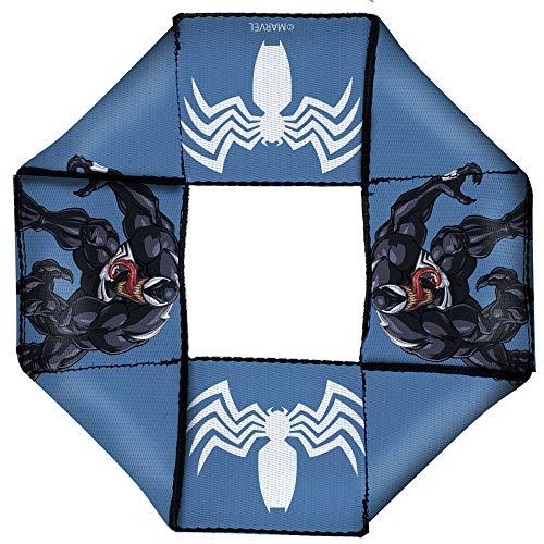 Buckle-Down Dog Toy Octagon Flyer Venom Pose Spider Icon Blue