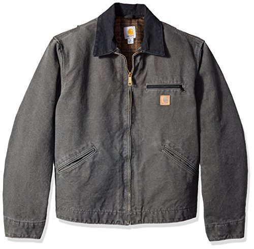 Carhartt Men's Blanket Lined Sandstone Detroit Jacket J97,Gravel,XX-Large