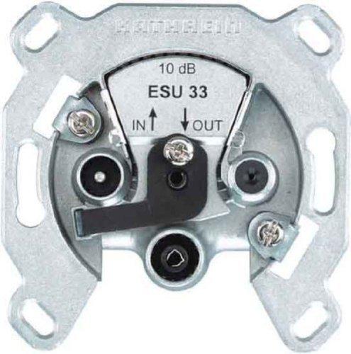 Kathrein ESU 33-21110012- 3-Fach Einkabel-Steckdosen für Durchschleifsysteme in Einkabel-Anlagen (TV/UKW/S at-Anschluß)