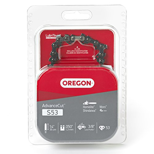 Oregon S53 AdvanceCut 14-Inch Semi Chisel Chainsaw Chain Fits Homelite, Shindaiwa, Worx