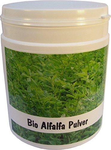 SANOS Bio Alfalfa Pulver 250g feinst vermahlen aus eigenem Anbau frisch vom Bodensee