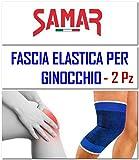 Fascia Elastica Ginocchio 2 Pezzi Ginocchiera Tutore Supporto per...