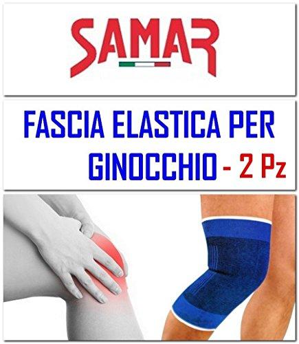 Fascia Elastica Ginocchio 2 Pezzi Ginocchiera Tutore Supporto per Riabilitazione Sport Calcio Palestra Fitness