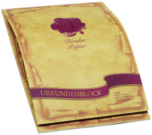 Rössler 2002390000 - Dürener Tradition - Urkundenblock A4, 20 Blatt, beidseitig bedruckt