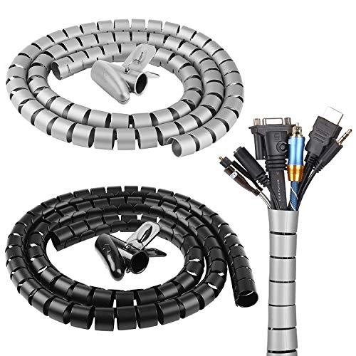 Rainmae - Organizador de cables en espiral (22 mm x 6 m),...