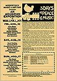 liuguangyicai Festival De Música Rock De Woodstock, Pintura En Lienzo Retro, Imagen Básica, Bar, Cafetería, Dormitorio, Sofá, Arte De Pared, Decoración del Hogar, Póster Sin Marco 50X70Cm A4722