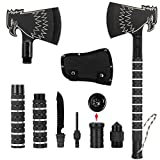 Folding Portable Hatchet, Camping Axe Eagle Head Multifunctional Survival AX with Sheath, Survival Multi-Tool Gear Kit Military Tactical Tomahawk for Hiking Emergency Backpacking Outdoor Adventure