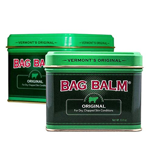 Vermont#039s Original Bag Balm Moisturizer For Dry Chapped Skin Conditions  8 Ounce Tin  2 Pack