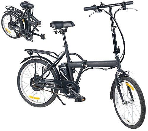 "eRädle E Bike: Klapp-Pedelec 20\"" mit bürstenlosem Motor, 24-V-Akku (4,4 Ah), 25 km/h (Klappfahrrad)"