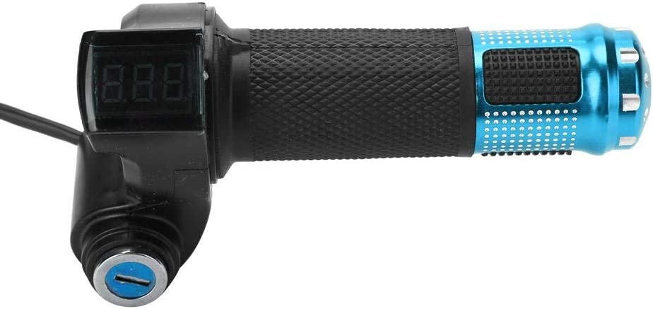 Silver Yosoo Health Gear Twist Throttle Grips 22mm Electric Bike Handlebar Throttle Grips with LED Display Screen Handle and Key Knock