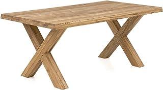 Table de salle à manger avec structure en bois en forme de X Chêne 100 x 240 cm