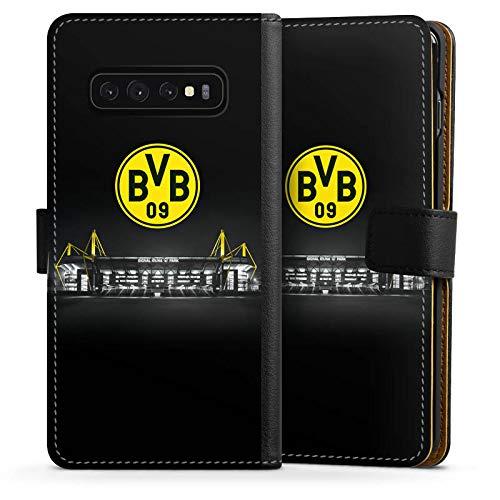 DeinDesign Klapphülle kompatibel mit Samsung Galaxy S10 Handyhülle aus Leder schwarz Flip Case BVB Stadion Borussia Dortmund