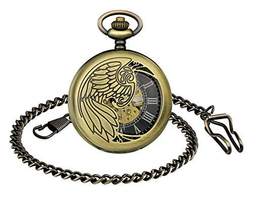Infinity U- Numeri romani Squisito squisito orologio da tasca meccanico retrò Eagle Wings Idea Idea per uomo donna