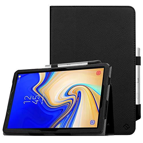 FINTIE Folio Funda para Samsung Galaxy Tab S4 10.5' - [Protección de Esquina] Carcasa de Cuero Sintético Soporte de S Pen y Auto- Reposo/Activación para Modelo SM-T830/T835, Negro