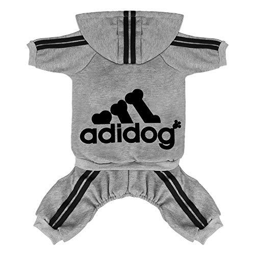 Scheppend Original Adidog Pet Clothes for Dog Cat Puppy Hoodies Coat Doggie Winter Sweatshirt Warm...
