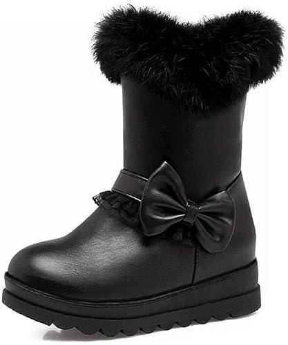 ZHRUI Stiefel para damen - Silberforma de Invierno Antideslizante Cálido Stiefel para damen Estudiantes en Las Stiefel Stiefel para la Nieve Stiefel Planas 34-43 (Farbe   schwarz, tamaño   39)