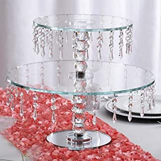 BalsaCircle 16-Inch Tall Clear Crystal Glass Round Cake Stand - Birthday Party Wedding Dessert Display Pedestal Centerpiece Riser