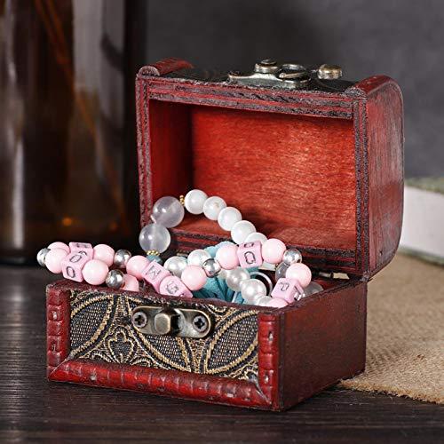 Con cofre del tesoro cubierto, para guardar joyas, maquillaje y otros objetos pequeños(Copper coin)