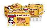 RIANXEIRA Pack de 8 latas x 111g. de Mejillones en Escabeche Picantes. Mejillones de las Rías Gallegas en Aceite de Girasol. D.O.P. Presentación 12-18 piezas.