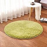 Runder Seidenteppich Schlafteppich Wohnzimmer Schlafzimmer Teppich Rechteck Decke Durchmesser Teppich Yoga Matte @ A _ Durchmesser _ 0,6 m - 2