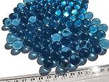 CRYSTAL KING Canicas de cristal azul, 16 mm de diámetro, 500 g, bolas decorativas transparentes, azules y claras, bolas decorativas de cristal decorativas, bolas azules