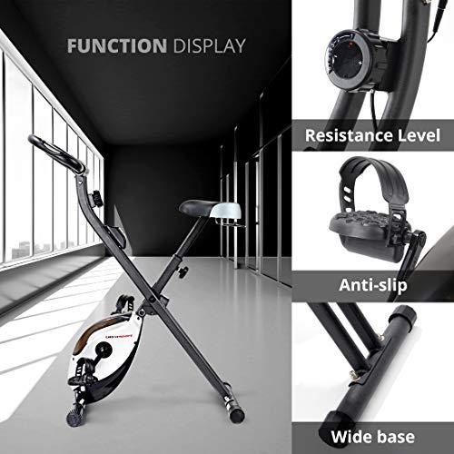 Ultrasport Vélo d'appartement F-Bike Heavy, vélo d'intérieur, vélo de fitness avec console et...