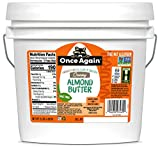 Once Again Natural Creamy Almond Butter, 9lbs - Lightly Toasted - Salt Free, Unsweetened - Gluten Free Certified, Peanut Free, Vegan, Kosher, Paleo